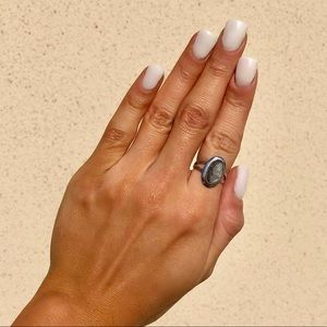 Vintage Sarah Coventry Mother of Pearl Cameo Ring